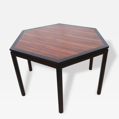 Edward Wormley Hexagonal Dining Table with Extensions by Edward Wormley for Dunbar
