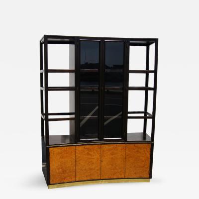 Edward Wormley High Walnut Olive Burl Cabinet by Edward Wormley for Dunbar