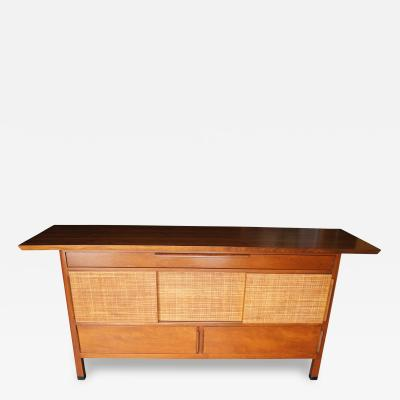 Edward Wormley Large Sideboard with Rattan Front by Edward Wormley for Dunbar