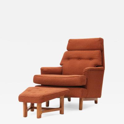 Edward Wormley Lounge Chair and Ottoman by Edward Wormley