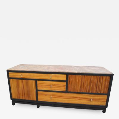 Edward Wormley Marble Topped Tawi Wood Sideboard by Edward Wormley for Dunbar
