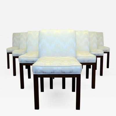 Edward Wormley Mid Century Modern Set of Ten Wormley For Dunbar Dining Side Chairs