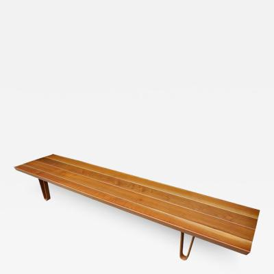 Edward Wormley Mid Century Modern Solid Walnut Long John Bench by Edward Wormley for Dunbar