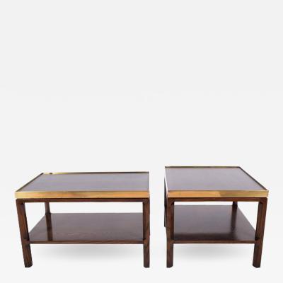 Edward Wormley Pair Side Tables by Edward Wormley for Dunbar