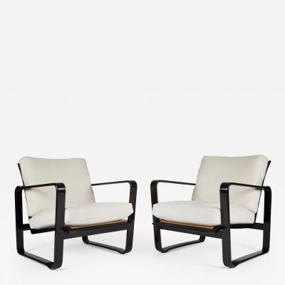 Edward Wormley Pair Of Adjustable Modern Morris Chairs By Edward Wormley  Model No 4731