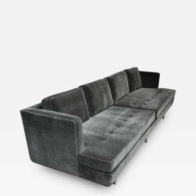 Edward Wormley Pair of Classic Dunbar Sofa by Edward Wormley in Charcoal Mohair
