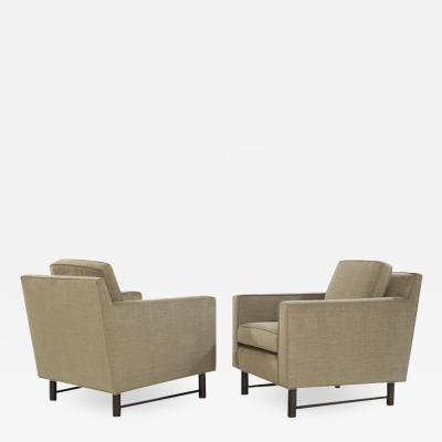 Edward Wormley Pair of Club Chairs by Edward Wormley for Dunbar circa 1950s