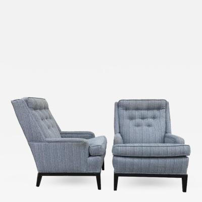 Edward Wormley Pair of Club Chairs in the Manner of Edouard Wormley