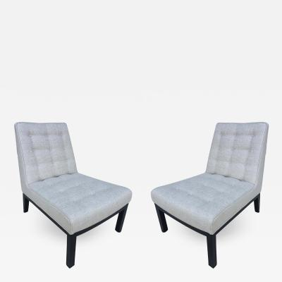 Edward Wormley Pair of Dunbar Edward Wormley Slipper Chairs