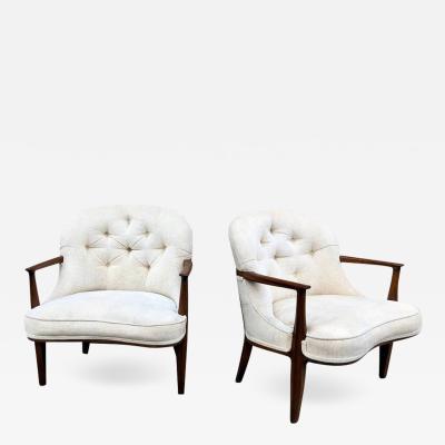 Edward Wormley Pair of Dunbar Janus Lounge Chairs