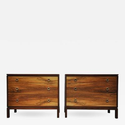 Edward Wormley Pair of Dunbar Walnut Front Chests Edward Wormley