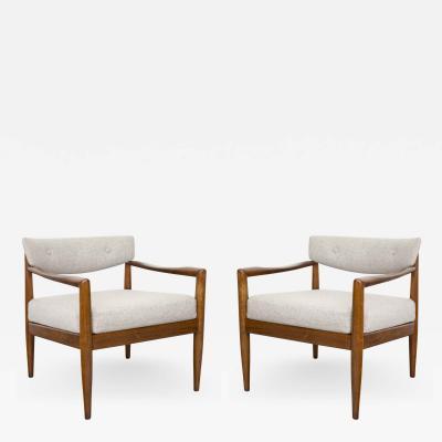 Edward Wormley Pair of Ed Wormley for Dunbar Chairs