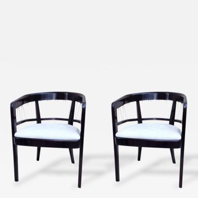 Edward Wormley Pair of Edward Wormley Chairs