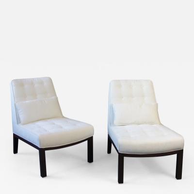 Edward Wormley Pair of Edward Wormley Slipper Chairs for Dunbar
