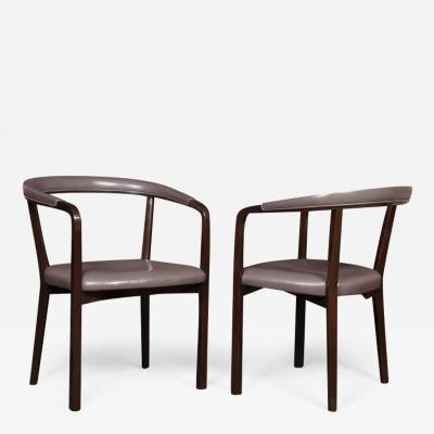 Edward Wormley Pair of Edward Wormley for Dunbar Armchairs