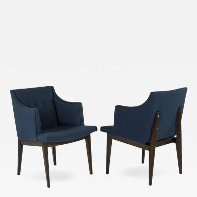 Edward Wormley Pair of Edward Wormley for Dunbar Bracket Back Armchairs