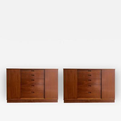 Edward Wormley Pair of Edward Wormley for Dunbar Cabinets