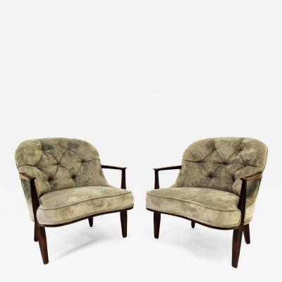 Edward Wormley Pair of Janus Armchairs by Edward Wormley for Dunbar Newly Reupholstered