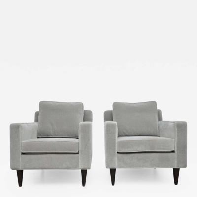 Edward Wormley Pair of Lounge Chairs by Edward Wormley for Dunbar