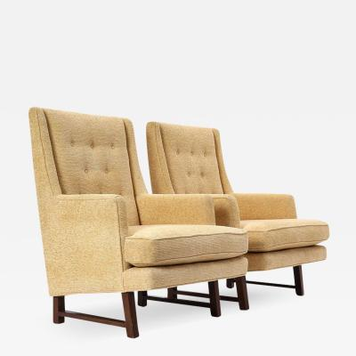 Edward Wormley Pair of Mister Lounge Chairs