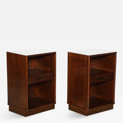 Edward Wormley Pair of Modernist Bedside Tables by Edward Wormley for Dunbar
