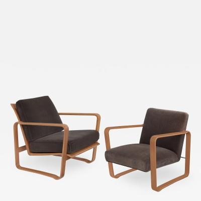 Edward Wormley Pair of Rare His and Hers Modern Morris Chairs by Edward Wormley for Dunbar