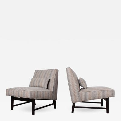 Edward Wormley Pair of Slipper Chairs by Edward Wormley for Dunbar