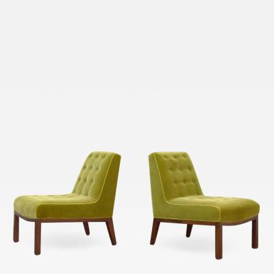 Edward Wormley Pair of Slipper Chairs by Edward Wormley for Dunbar