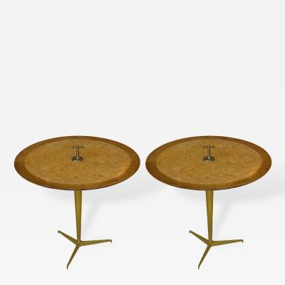 Edward Wormley Pair of Snack Tables by Edward Wormley for Dunbar