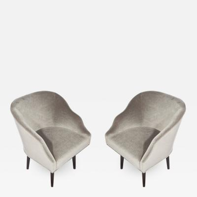 Edward Wormley Pair of Swivel Armchairs by Edward Wormley for Dunbar circa 1960s