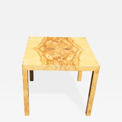 Edward Wormley Parsons Style Olive Burl Side Table by Edward Wormley for Dunbar