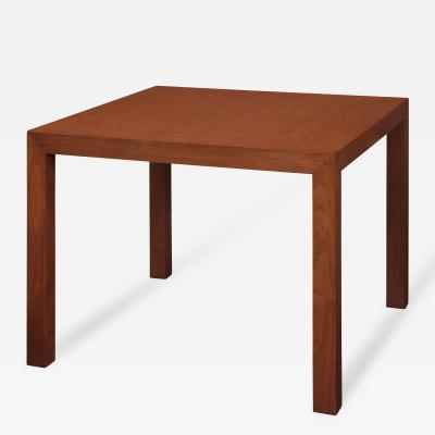 Edward Wormley Parsons Style Side Table in Walnut by Edward Wormley