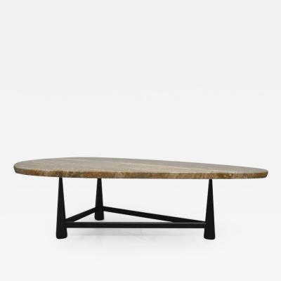 Edward Wormley Rare Dunbar Travertine Coffee Table by Edward Wormley