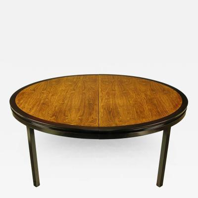 Edward Wormley Rare Edward Wormley Custom Mahogany and Natural Rosewood Oval Dining Table