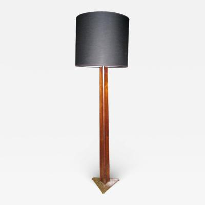 Edward Wormley Rare Edward Wormley Rosewood and Brass Floor Lamp for Hansen