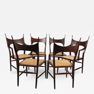 Edward Wormley Rare Set of Six Edward Wormley 5580 Dining Chairs for Dunbar