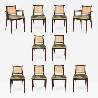 Edward Wormley Set of 10 Dining Chairs 4632 by Edward Wormley for Dunbar