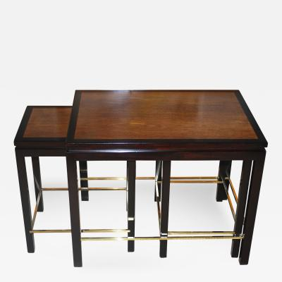 Edward Wormley Set of Edward Wormley Nesting Tables for Dunbar