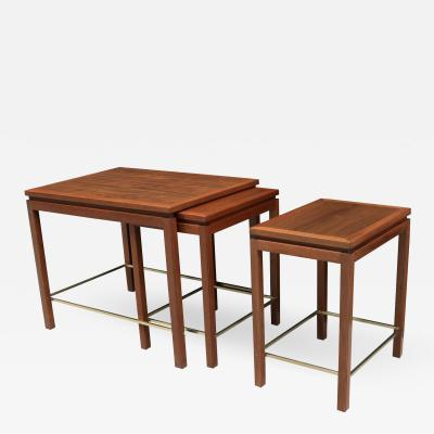 Edward Wormley Set of Edward Wormley for Dunbar Modernist Nesting Tables