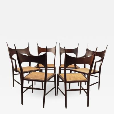Edward Wormley Set of Eight Edward Wormley 5580 Dining Chairs for Dunbar 1950s