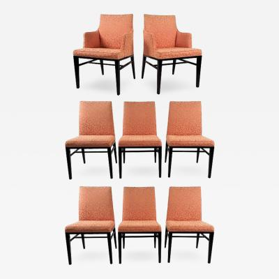 Edward Wormley Set of Eight Formal Dining Chairs by Edward Wormley for Dunbar