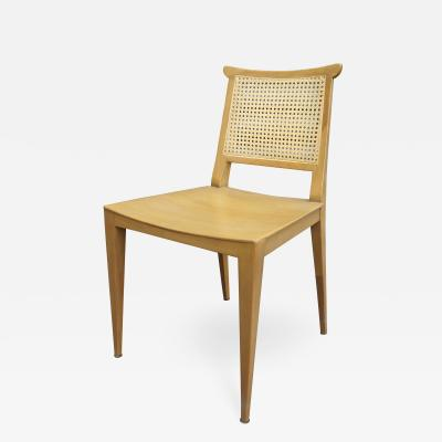 Edward Wormley Set of Four Cane and Mahogany Dining Chairs by Edward Wormley for Dunbar