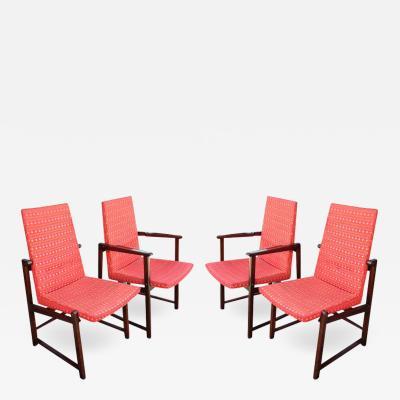 Edward Wormley Set of Four Dunbar Side Chairs
