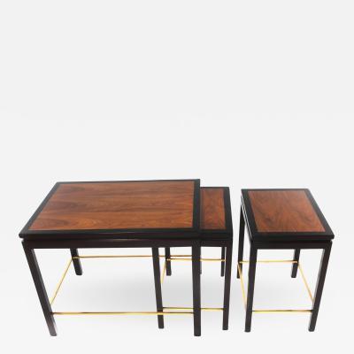 Edward Wormley Set of Three Nesting Tables by Edward Wormley for Dunbar