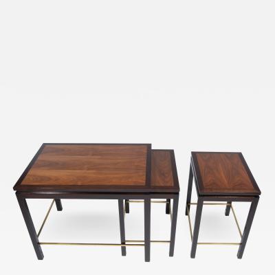 Edward Wormley Set of Three Nesting Tables by Edward Wormley for Dunbar circa 1960s
