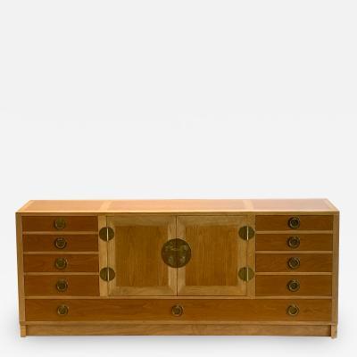 Edward Wormley Sideboard or Cabinet in Mahogany and Walnut by Edward Wormley for Dunbar 1960s