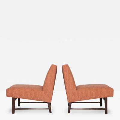 Edward Wormley Slipper Chairs by Edward Wormley for Dunbar