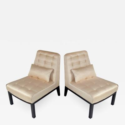 Edward Wormley Slipper Chairs by Edward Wormley for Dunbar