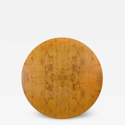 Edward Wormley Solid Walnut Olive Burl Wood Game Table by Edward Wormley for Dunbar