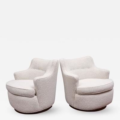 Edward Wormley Swivel Lounge Chairs by Edward Wormley for Dunbar
